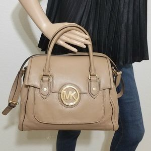 🔥NWT Michael Kors Margo Genuine Leather Satchel